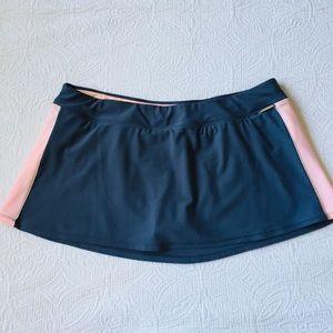 ZeroXposur Swim Skirt Gray Pink 14
